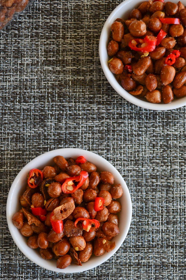 Spicy Garlic Peanuts - One Chopping Board