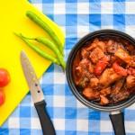 Tender Pork Chunks With Tomato and Shrimp Paste Sauce