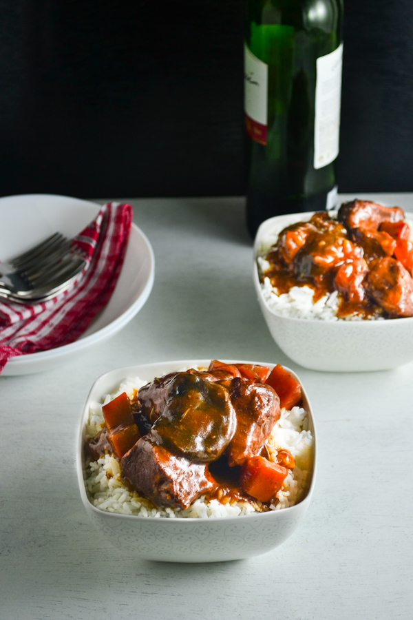 Braised Pork in Red Wine and Tomato Sauce 1