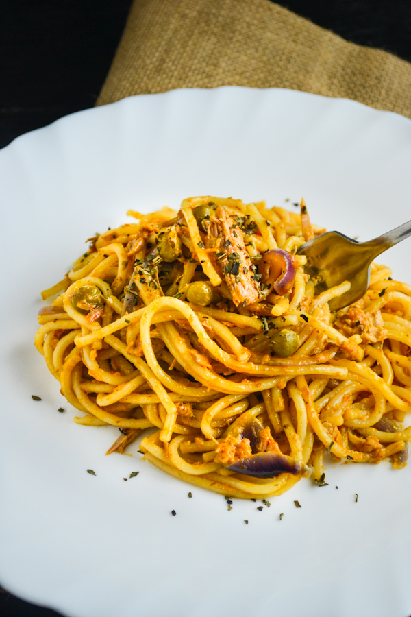 Tuna Pasta with Sun Dried Tomato Pesto 2 1CB