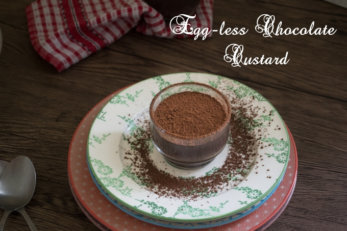 Eggless Chocolate Custard 1CB