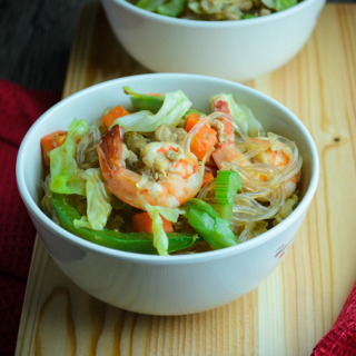 Chicken and Shrimp Vermicelli Noodles