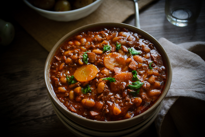 Slow Cooked Chili Beans