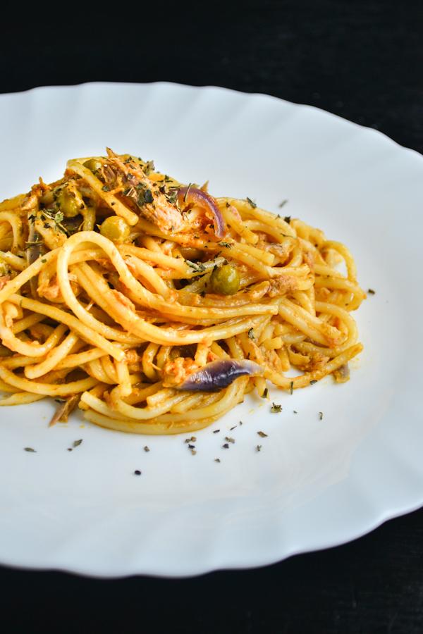 Tuna Pasta with Sun Dried Tomato Pesto 1 1CB