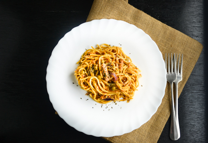Tuna Pasta with Sun Dried Tomato Pesto 1CB