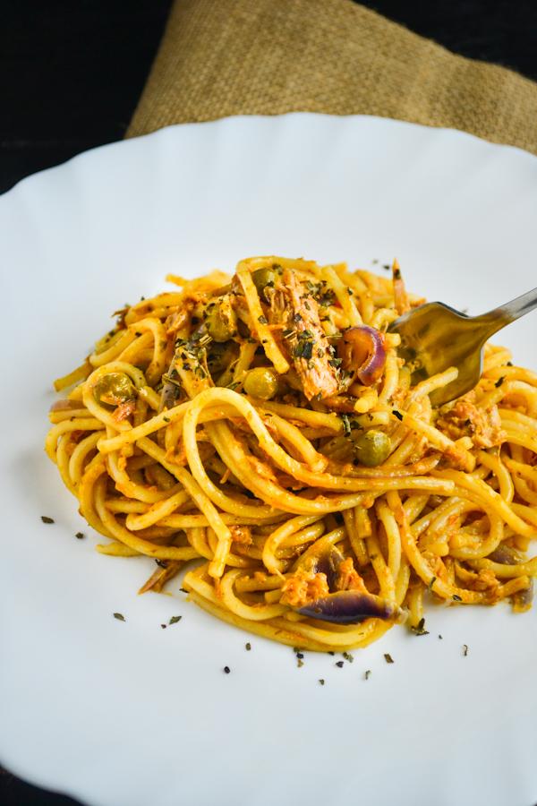 Tuna Pasta with Sun Dried Tomato Pesto 2 1CB