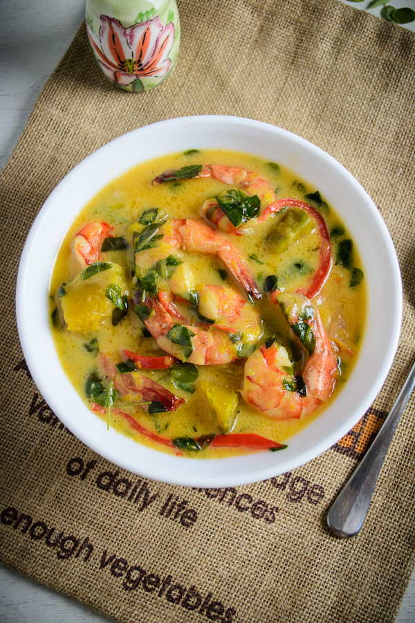 Shrimp and Squash in Coconut Milk